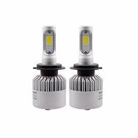 S2 9007 / HB5 Araba LED Far Ampüller 8000LM COB Hi-Lo Işın Otomobil Işık Kiti Ücretsiz Kargo