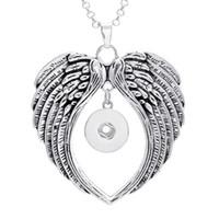 Marka Yeni 10 Adet çeşitli kadın Gümüş Kanatları zencefil 18mm Yapış Düğmeler chunk charms kolye kolyeler toptan lots