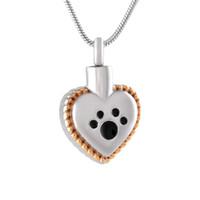 CMJ8647 باو طباعة engravable القلب جرة تذكارية الرماد جرة كلب / القط جرة الحرق جنازة النعش الأزياء والمجوهرات الأزياء سحر