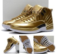 12 Pinnacle Metallic Gold Wholesale 12S Metallic Gold 12 Scarpe da basket da uomo taglie spedizione gratuita
