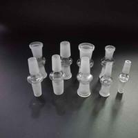 dikke glazen adapter standaard roken pijp accessoires 10 14 18mm converter mannelijke vrouw voor water bongs bubblers bowl olie rig waterpijp