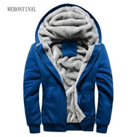 Venda por atacado-2016 New Brand Outono Inverno Warm Thick Velvet Solid Sweatshirt Men Soft Shell Casual Mens Hoodies e Sweatshirts Tracksuit