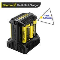 100 ٪ أصيلة Nitecore I8 شاحن بطارية 8 بطاريات قابلة للشحن كابل USB الناتج عن 18650 26650 14650 18350