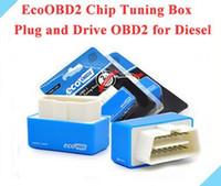 최신 EcoOBD2 블루 디젤 경제 칩 튜닝 상자 PlugDrive 에코 OBD2 디젤 자동차에 대 한 저장 15 % 연료 방출 NitroOBD2