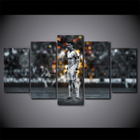 5 Pieces Football Superstar Ronaldo Wall Art Canvas Pictures...