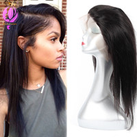 360 Lace Frontal Straight Brazilian Peruvian Human Hair Natu...