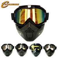 حار تعزيز دراجة نارية نظارات الرجعية خوذة قناع نظارات الاستخدام المزدوج موتوكروس حملق تركيب الخوذ خمر gafas cs cg06