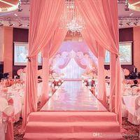 Новое поступление 1 м / 1,2 м / 1,5 м Широкое сияние Shine Silver зеркало ковер бегун ковров для романтических свадебных благоприятных украшений партии