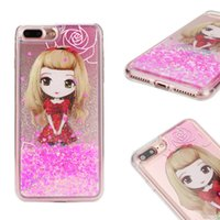 New Cartoon Liquid Glitter Quicksand Girl Cover Shell For iP...