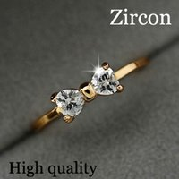 17KM Áustria anéis de Cristal Cor de Ouro anel de dedo anel de noivado de Cristal de Zircão Anéis de Cristal mulheres atacado