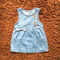 Baby Girls Clothes Girl Dress Denim Summer Sleeveless Big Bo...