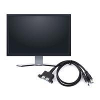 Freeshipping 2 adet / grup Combo Çift USB 3.0 Erkek Kadın Uzatma Kablosu ile Vida Soket Paneli Bilgisayar Masaüstü Siyah için Montaj ...