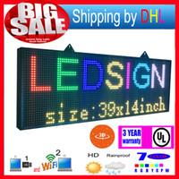 WIFI Control inalámbrico LED Pantalla de rodadura P13RGB Otoño 7 colores Efectos 3D LED Signos LED 39x14inch Panel de visualización programable