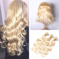 #613 Body Wave 360 Lace Frontal With Bundles Blonde Russian ...