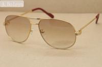Venda por atacado vendendo alta qualidade 1038366 estilo de metal óculos de sol prata ouro óculos lunettes quadro c decoração feminina unisex óculos Tamanho: 59-12-140mm