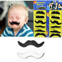 12шт / комплект Halloween Party костюм Поддельные Усы Усы Смешные Поддельные Бороды Whisker партии Костюм для взрослых Детские игрушки