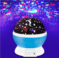 fast ship Romantic Led Night Lamp Rotating Starry Star Moon ...