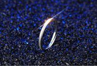 Hot! Mode Titan Stahl Roségold Schleifen Ringe Für Paare Großhandel Billig Metall Schmuck Masse Verlost Gemischte Größe 4--8