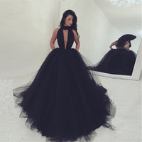 Long Sexy Burgundy Black Masquerade Prom Dress Ball Gown Puf...