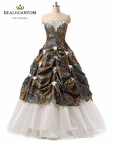 2017 New Sexy Sweetheart Ball Gown Appliques Camouflage Quin...