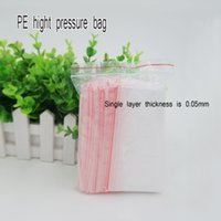 Sacchetto di plastica auto-styled di trasporto / sacchetto lucidi della chiusura lampo trasparente rossa delle borse richiudibili dell'imballaggio della chiusura lampo. Spot 100 / pacchetto