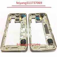 10 sztuk Oryginalny LCD Bliski Rama obudowy Bezel + Wszystkie małe części do Samsung Galaxy S5 G900F G900A G900T G900V G900M G900H Silver Gold
