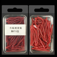 100pcs 2box 3. 5cm 0. 2g Earthworm Silicone Lures Fishing Lure...