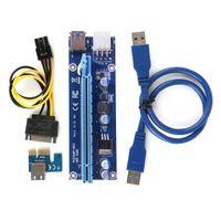PCI-E USB3.0 Express 1x -16x GPUエクステンダライザーカードアダプタ電源ケーブル4ピン米国B00414