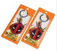 ¡Caliente! 10pcs Movie Series Llavero Deadpool Dead Pool Llavero Llavero para Llaves Chaveiro Llavero Key Ring Key Holder porte