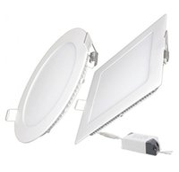 Ultrathin 9 W 12 W 15 W 18 W 21 W LED Luzes Do Painel SMD2835 Downlight AC110-240V Luminária Teto Para Baixo luzes frete grátis