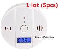 Piller Ile 5 adet 1 grup CO Karbon Monoksit Alarm Dedektörü Zehirlenme Gaz Duman Sensörü Ev Kullanımı Kolay Kurulum Ses LCD Ücretsiz Kargo