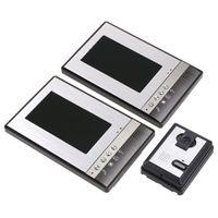 7 Zoll verdrahtete Zweiweg-Wechselsprechanlage-Video-Türsprechanlage mit zwei LCD-Monitor