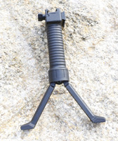 Retractable Bipod Grip Reinforced Black