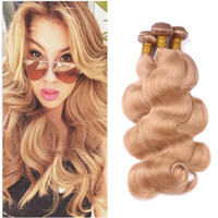 27 Brown Blonde Body Wave Bundles de Cheveux Humains Honey Blonde Malaisienne Virgin Unprocess Trames de Cheveux 3 Pcs Lot