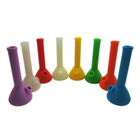 In Stock Colorful Silicone Bong With Glass Downstem Silicone...