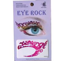 Envío gratis 24 piezas sombra de ojos etiqueta engomada del tatuaje eye rock 8 diseño de la mezcla impermeable del tatuaje del ojo Transferencia Temporal tatoo