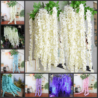 New 165cm Long Elegant Wisteria Rattan Artificial Silk Hydra...