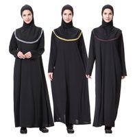 Musulmán Hui nacionalidad Arabia túnicas vestido musulmán de las mujeres nuevas túnicas flojas con pañuelo rezo vestido étnico traje Vestidos venta al por mayor