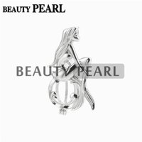 5 Pieces Mermaid Cage Pendant Wishing Pearl Party Gift 925 S...