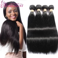 Peruvian Straight Human Hair Weaves 4Bundles Peruvian Straig...