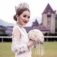 Ювелирные изделия невесты корона принцесса Корона Корона высокого класса европейский стиль не исчезают свадебные аксессуары