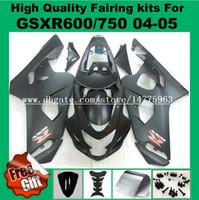 Инъекции обтекатель для Suzuki GSXR600 GSXR750 2004 2005 К4 К5 системы GSX-R600 о системы GSX-750 рандов 04 05 GSXR 600 750 обтекатели комплект матовый черный #627L2 9Gifts