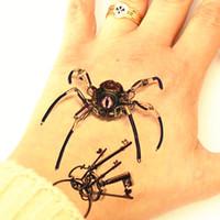 Großhandel Spinne Königin 3d Temporäre Tattoo Body Art Flash Tattoo Aufkleber 19*9 cm Wasserdichte Styling Tattoo Home Decor Wandaufkleber