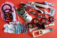 BDSM Stromschlag Elektrosexuelles Männliches Bondage Getriebe Elektroschock Therapiegerät Harnröhren Penis Plug Penisring Hintern Analplug