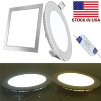 """Square Round 9W 12W 15W 18W 21W Dimmable Led Slim Panel Lights Recessed Downlights 4"""" 5"""" 6"""" 7"""" 8"""" AC 110-240V + Drivers"""