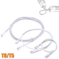 1ft 2ft 3ft 4ft 5ft Cable de extensión Cable T5 T8 Cable del cable del conector para el tubo fluorescente LED integrado Envío libre de DHL
