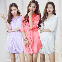 Vente en gros- 2017 NOUVELLE mode femmes hommes vêtements de nuit lingerie de nuit sexy sleepshirts robes de nuit robes de nuit bonne chemise de nuit amant porter