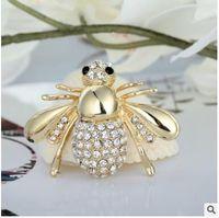 Lindo broches de animales de abeja alfileres llenos de ramillete de diamantes broche de diamantes de imitación para hombres y mujeres regalo