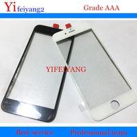10 adet Soğuk basın AAA kalite Ön Cam + çerçeve iPhone 6 Için 6 s 7 artı 5 5c 5 s Dış Çerçeve ile Çerçeve çerçeve lcd onarım bölüm
