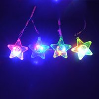 LED Light Up lampeggiante Collana Star Rave Party Favors Bambini Bambini Matrimonio Halloween Birthday Party Supplies